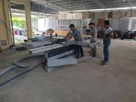 Công ty CP Xây dựng và Thiết bị Tây Ninh sử dụng dụng Máy dán cạnh Felder G480, Máy cưa bàn trượt Felder K540S; Máy khoan dàn FD21 Professional